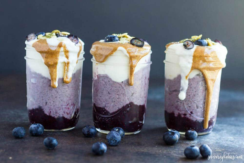 Healthy Blueberry Recipes: Blueberry Breakfast Parfaits