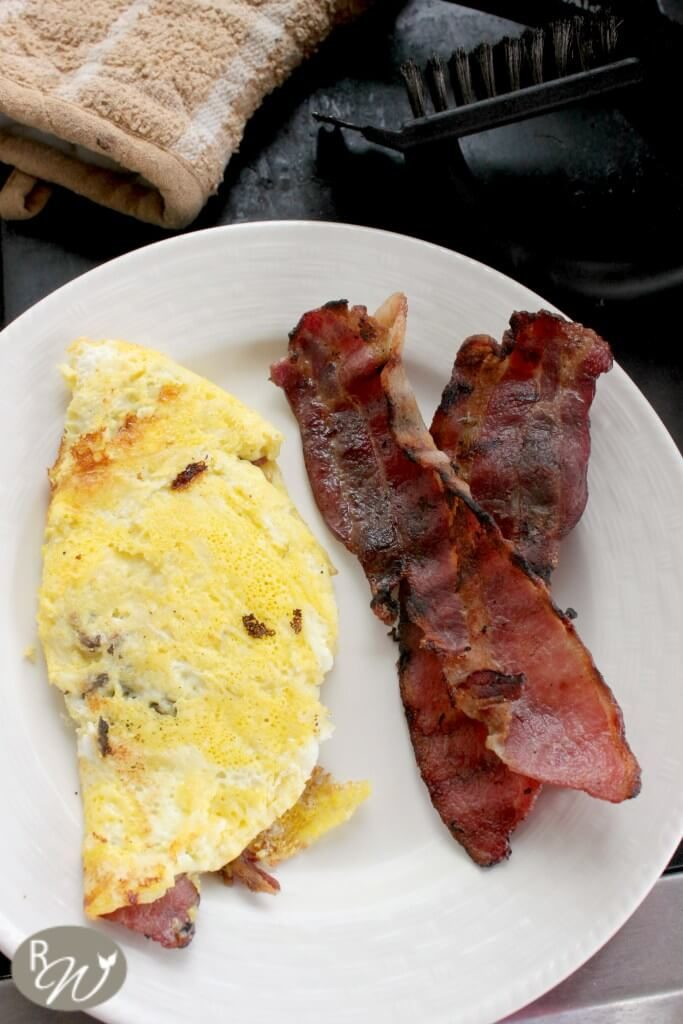 Grilled Omelettes and Bacon