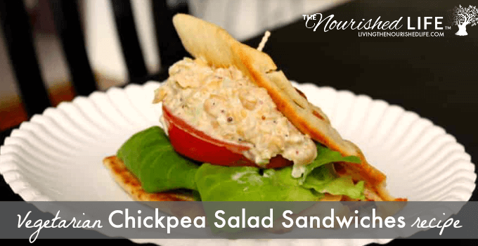 Vegetarian Chickpea Salad Sandwiches Recipe
