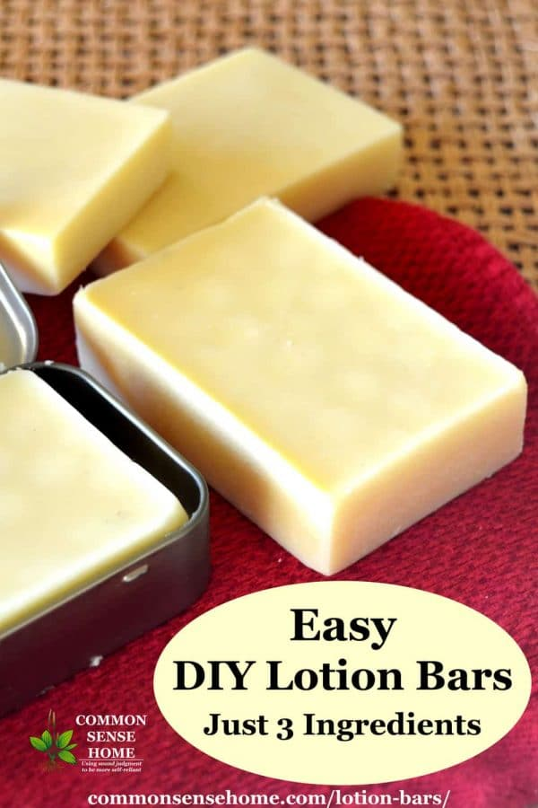 DIY lotion bars on a red cloth