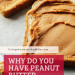 peanut butter on slices of bread